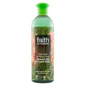 Faith in Nature Bio aloe vera és ylang-ylang 250ml tusfürdő