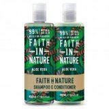 Faith in Nature Aloe Vera sampon + kondicionáló ajándékcsomag